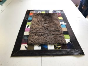 peau de bison et bord patchwork