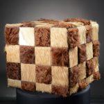 pouf patchwork Salers Aubrac