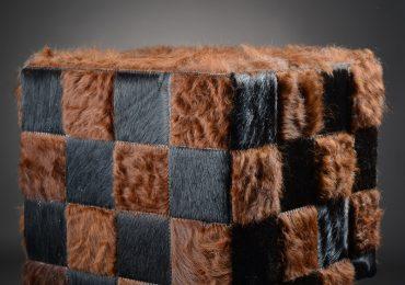 pouf patchwork salers taureaux