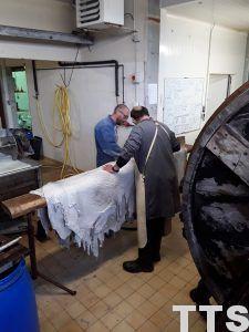 avant tannage peaux autruches atelier 2